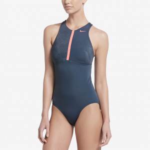 791c618d26f Nike Sport Stripe High Neck One-Piece